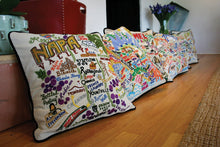 Load image into Gallery viewer, Napa Valley Hand-Embroidered Pillow Pillow catstudio