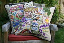 Load image into Gallery viewer, Napa Valley Hand-Embroidered Pillow - catstudio