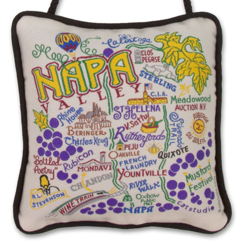 Napa Valley Mini Pillow Ornament - catstudio
