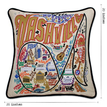 Load image into Gallery viewer, Nashville Hand-Embroidered Pillow - catstudio