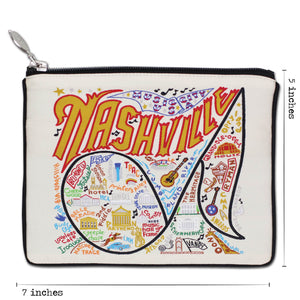 Nashville Zip Pouch - Natural Pouch catstudio