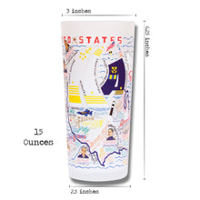 Load image into Gallery viewer, Navy Drinking Glass - catstudio