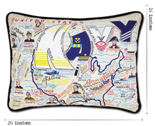 Load image into Gallery viewer, Navy Printed Pillow - catstudio