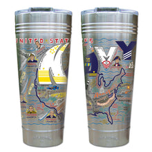 Load image into Gallery viewer, Navy Thermal Tumbler (Set of 4) - PREORDER Thermal Tumbler catstudio