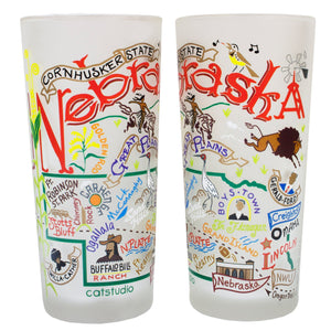 Nebraska Drinking Glass - catstudio