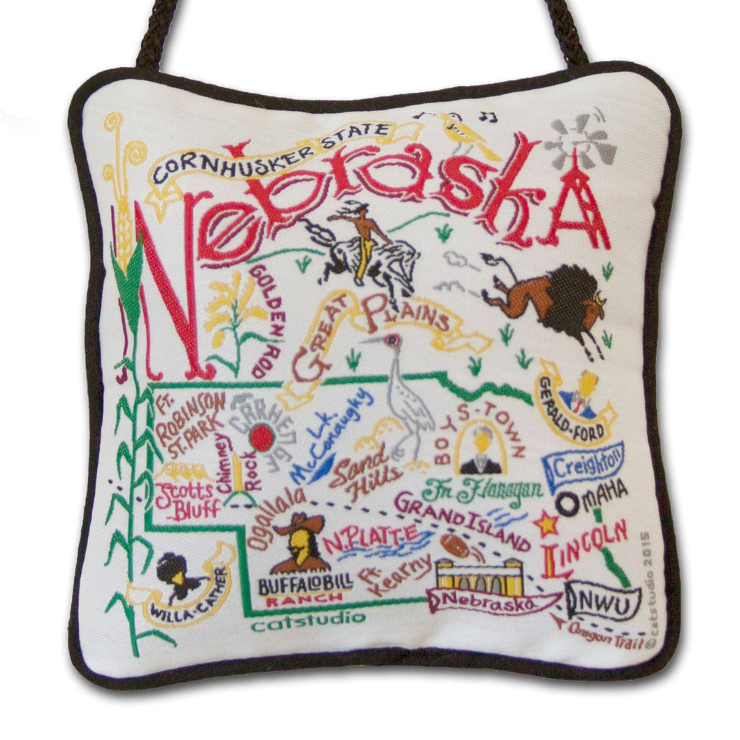Nebraska Mini Pillow Ornament - catstudio