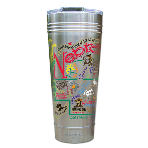 Nebraska Thermal Tumbler (Set of 4) - PREORDER Thermal Tumbler catstudio