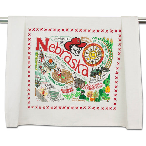 Nebraska, University of Collegiate Dish Towel Dish Towel catstudio