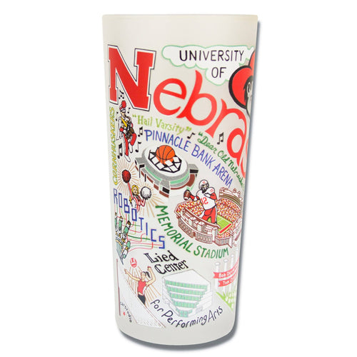 Nebraska, University of Collegiate Drinking Glass - catstudio