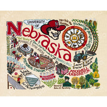 Load image into Gallery viewer, Nebraska, University of Collegiate Fine Art Print - catstudio