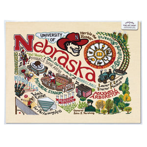 Nebraska, University of Collegiate Fine Art Print - catstudio