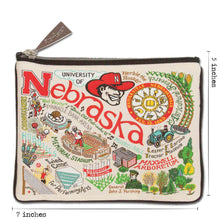 Load image into Gallery viewer, Nebraska, University of Collegiate Zip Pouch - catstudio