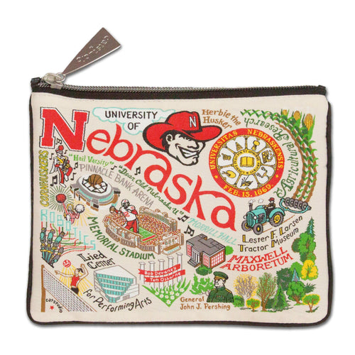 Nebraska, University of Collegiate Zip Pouch Pouch catstudio
