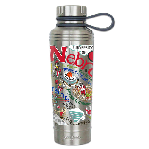Nebraska, University of Collegiate Thermal Bottle - catstudio
