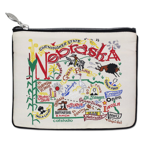 Nebraska Zip Pouch - Natural - catstudio