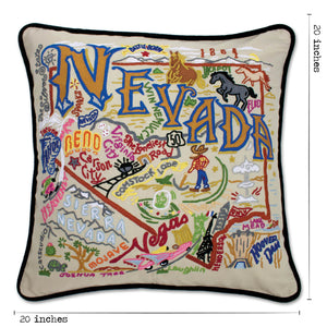 Nevada Hand-Embroidered Pillow - catstudio