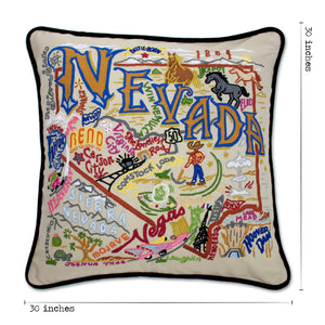 Nevada XL Hand-Embroidered Pillow - catstudio