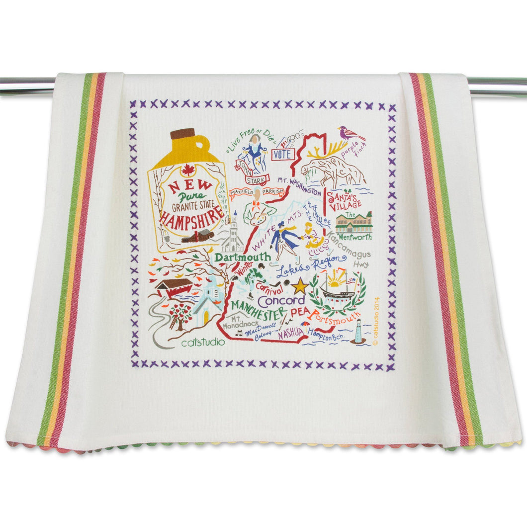 New Hampshire Dish Towel - catstudio