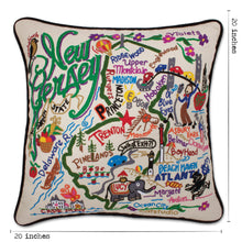 Load image into Gallery viewer, New Jersey Hand-Embroidered Pillow - catstudio