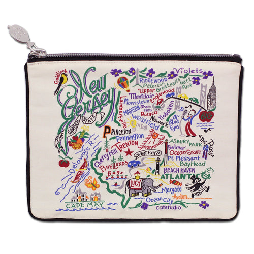 New Jersey Zip Pouch - Natural Pouch catstudio