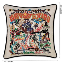 Load image into Gallery viewer, New Mexico Hand-Embroidered Pillow - catstudio