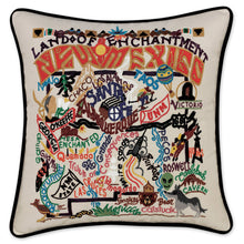 Load image into Gallery viewer, New Mexico Hand-Embroidered Pillow Pillow catstudio