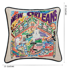Load image into Gallery viewer, New Orleans Hand-Embroidered Pillow Pillow catstudio