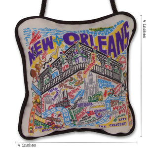 New Orleans Mini Pillow Ornament - catstudio