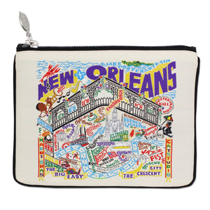 New Orleans Zip Pouch - Natural - catstudio