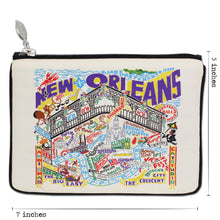 Load image into Gallery viewer, New Orleans Zip Pouch - Natural - catstudio