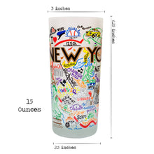 Load image into Gallery viewer, New York City Drinking Glass - catstudio