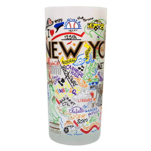 New York City Drinking Glass - catstudio