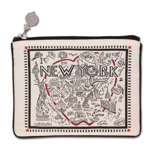 New York City Zip Pouch - B&W - catstudio