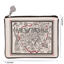 Load image into Gallery viewer, New York City Zip Pouch - B&W - catstudio