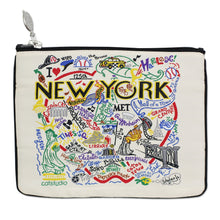 Load image into Gallery viewer, New York City Zip Pouch - Natural - catstudio