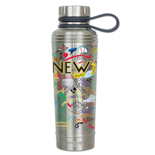 New York City Thermal Bottle - Stainless Steel Thermal Bottle catstudio