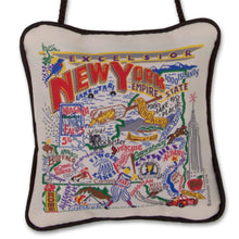 Load image into Gallery viewer, New York State Mini Pillow Ornament - catstudio