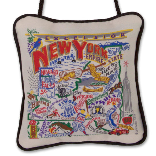 New York State Mini Pillow Ornament - catstudio