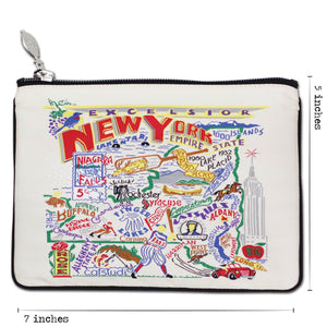 New York State Zip Pouch - Natural - catstudio