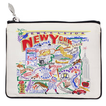 Load image into Gallery viewer, New York State Zip Pouch - Natural - catstudio