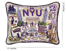 Load image into Gallery viewer, New York University (NYU) Collegiate Embroidered Pillow - catstudio