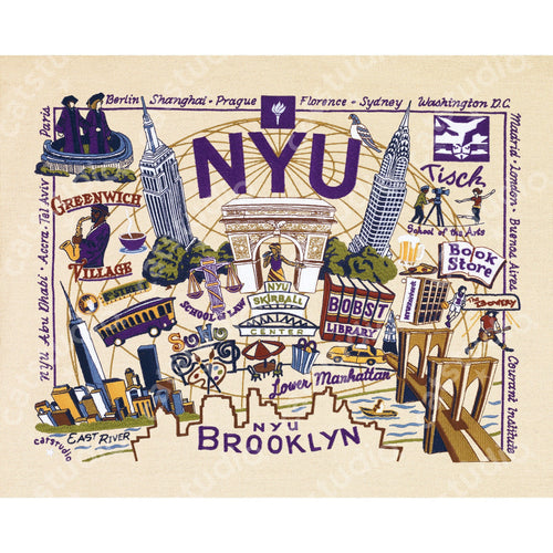 New York University (NYU) Collegiate Fine Art Print - catstudio
