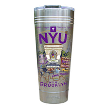 Load image into Gallery viewer, New York University (NYU) Collegiate Thermal Tumbler (Set of 4) - PREORDER Thermal Tumbler catstudio