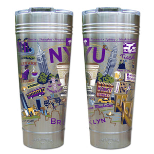 New York University (NYU) Collegiate Thermal Tumbler (Set of 4) - PREORDER Thermal Tumbler catstudio