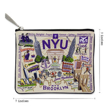 Load image into Gallery viewer, New York University (NYU) Collegiate Zip Pouch - catstudio