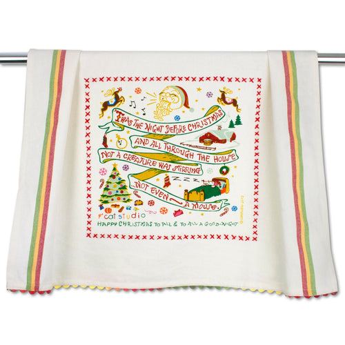 Night Before Christmas Dish Towel Dish Towel catstudio