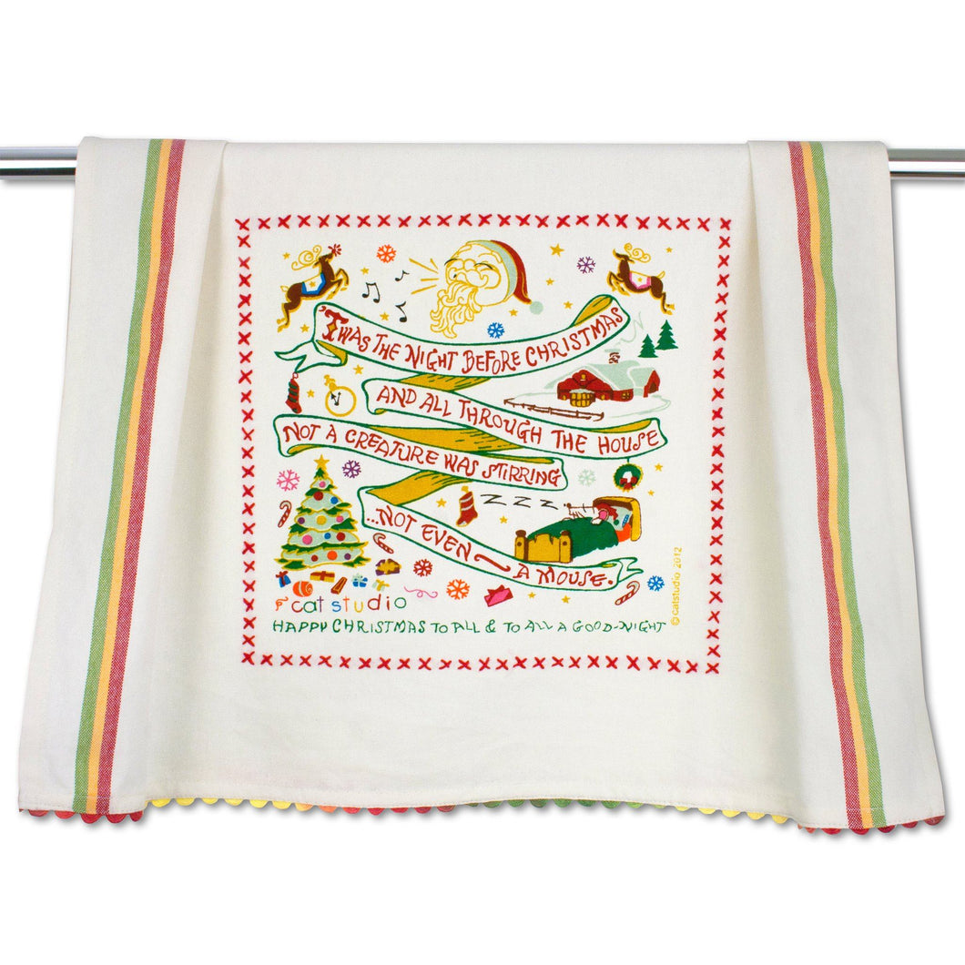 Night Before Christmas Dish Towel - catstudio