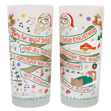 Load image into Gallery viewer, Night Before Christmas Drinking Glass - catstudio