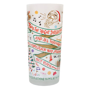 Night Before Christmas Drinking Glass - catstudio
