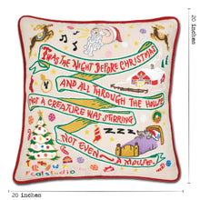 Load image into Gallery viewer, Night Before Christmas Hand-Embroidered Pillow - catstudio